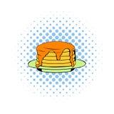 Stack of pancakes icon, comics style Stock Photos