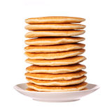 Stack of Pancakes isolated Stock Images
