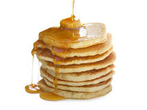 Stack of Pancakes isolated on white Stock Images