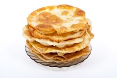 Stack of pancakes on the plate Stock Photo