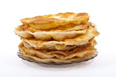 Stack of pancakes on the plate Royalty Free Stock Images