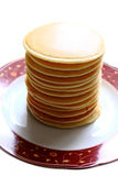 Stack of pancakes. The stack of pancakes on the plate Royalty Free Stock Image