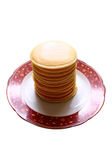 Stack of pancakes. The stack of pancakes on the plate Stock Images