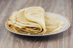 A stack of pancakes Royalty Free Stock Images