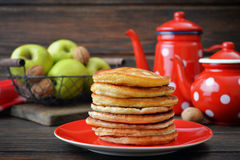 Stack of pancakes Stock Image