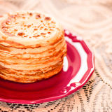 Stack of pancakes. Royalty Free Stock Photo