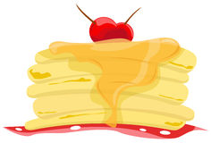 Stack of pancakes with syrup royalty free illustration