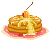 Stack of pancakes with syrup Stock Photos