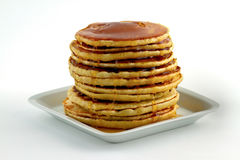Stack of pancakes with syrup Royalty Free Stock Photos
