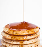 Stack of Pancakes and Syrup Royalty Free Stock Photography