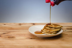 Stack of pancakes. With syrup Stock Photo