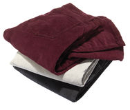Stack of pants Stock Photo