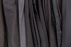 Stack of pants in store close up Royalty Free Stock Images