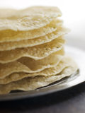 Stack Of Papadoms Stock Photography