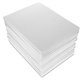 Stack of Paper. Isolated on white with a clipping path Royalty Free Stock Photos