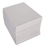 Stack of paper. Isolated on white Stock Photography