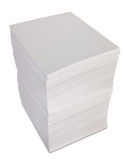 Stack of paper. Isolated on white Stock Images