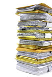 Stack of paper. Close up stack of paper on white background Royalty Free Stock Photography