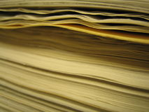 Stack of paper. Closeup of uneven stack of paper Stock Photography