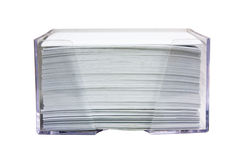 Stack of paper in a box Stock Images