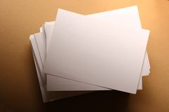 Stack of paper cards. Stack of white paper cards Stock Photography