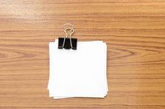 Stack of paper with clip royalty free stock image