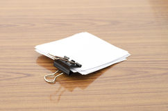 Stack of paper with clip Royalty Free Stock Photo
