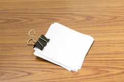 Stack of paper with clip Royalty Free Stock Images