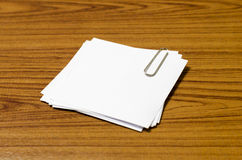 Stack of paper with clip Stock Photography