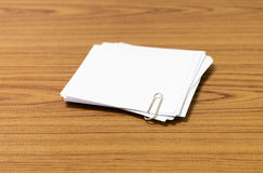 Stack of paper with clip Stock Photos