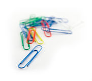 Stack of paper clips. On white background Stock Photo