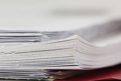Stack of paper Stock Image
