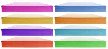 Stack of paper - colorful Stock Images