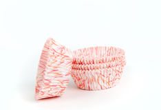 Stack of paper cupcake cups Royalty Free Stock Photography