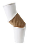 Stack of Paper Cups Royalty Free Stock Images