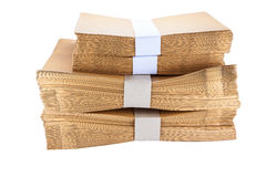 Stack  Paper envelopes Stock Images