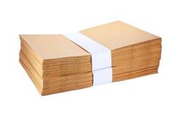 Stack  Paper envelopes Stock Photos