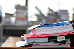 Stack of  paper files Stock Images