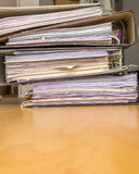 Stack of Paper files Royalty Free Stock Photos