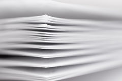 Stack of paper. A fragment of a book or magazine Stock Photography