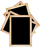 Stack of paper frames. With frayed edges on white background Royalty Free Stock Images