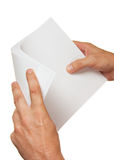 A stack of paper in hand Royalty Free Stock Image