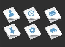 Stack Of Paper with icons royalty free illustration