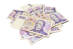 Stack of paper money Royalty Free Stock Photo