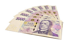 Stack of paper money Stock Images