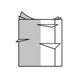 Stack of paper pages. Over white background. vector illustration stock illustration