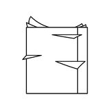 Stack of paper pages. Over white background. vector illustration Stock Images
