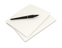 Stack of paper and pen Royalty Free Stock Photography