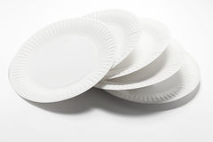 Stack of Paper Plates Royalty Free Stock Image