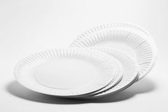 Stack of Paper Plates. On Seamless Background Stock Photography